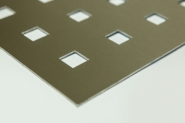 Lochbleche aus 2,0 mm Aluminium 2000x1000 mm mit verschiedenen Mustern