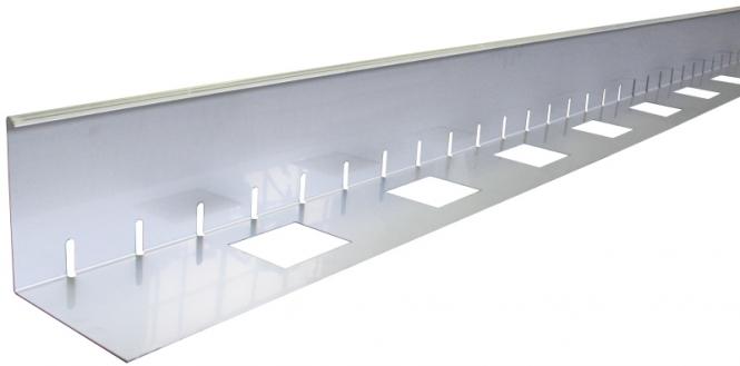 Kiesfangleisten Aluminium oder Edelstahl 50 mm Höhe