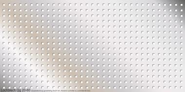 Lochblech aus 2,0 mm Edelstahl Qg 20-60, 1000x 500 mm