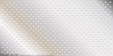 Lochblech aus 2,0 mm Aluminium Qd 20-60, 2000x1000 mm