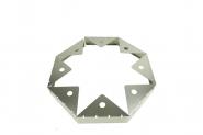 Kiesfangleiste Aluminium knickbar