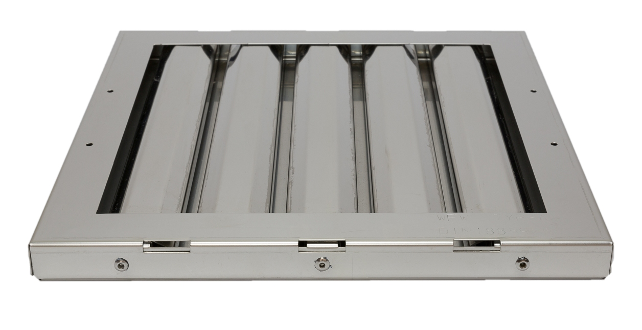 Flammschutzfilter Bauart Typ B Filter Haubenfilter Edelstahl 450x400x20mm